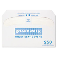 Boardwalk Premium Half-Fold Toilet Seat Covers, 250 Covers/Sleeve, 10 Sleeves/Carton (BWK K2500)