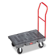 "Rubbermaid Commercial Heavy-Duty Platform Truck Cart, 2000 lb Capacity, 24"" x 48"" Platform, Black (RCP 4436 BLA)"