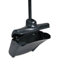 "Rubbermaid Commercial Lobby Pro Upright Dustpan, w/Cover, 12 1/2""W, Plastic Pan/Metal Handle, Black (RCP 2532)"