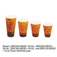 Dart Foam Hot/Cold Cups, 20oz, Brown/Black, 500/Carton (DCC 20U16ESC)