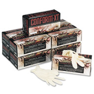 Conform XT Premium Latex Disposable Gloves, Powder-Free, Medium, 100/Box (ANS 69318M)
