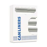 Boardwalk Can Liners, 8-10gal, 24 x 24, 6 Microns, Natural, 50 Bags/Roll, 20 Rolls/CT (BWK 242306)