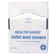 Hospital Specialty Co. Health Gards Toilet Seat Covers, White, Paper, Quarter-Fold, 200/PK, 25 PK/CT (HOS HG-QTR-5M)