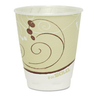 SOLO Cup Company Symphony Design Trophy Foam Hot/Cold Drink Cups, 8oz, Beige, 1000/Carton (SCC X8SYM)