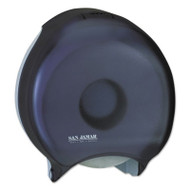"San Jamar Single 12"" JBT Bath Tissue Dispenser, 1 Roll, 12 9/10x5 5/8x14 7/8, Black Pearl (SAN R6000TBK)"