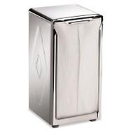 San Jamar Tabletop Napkin Dispenser, Tall Fold, 3 3/4 x 4 x 7 1/2, Capacity: 150, Chrome (SAN H900X)
