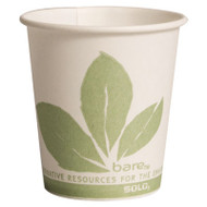 SOLO Cup Company Bare Eco-Forward Paper Treated Water Cups, 3oz, Cold, 100/Sleeve, 50 Sleeves/CT (SCC 44BB)