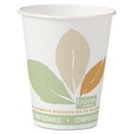 SOLO Cup Company Bare Eco-Forward Paper Hot Cups, 8 oz., Bare Design, 50/Bag, 20 Bags/Carton (SCC 378PLA-BB)