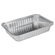 Handi-Foil of America Aluminum Oblong Pan, Shallow, 1 1/2 lb, 8-19/32 x 6 x 1-1/4 (HFA 206130)
