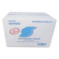 GEN Bath Tissue, 2-Ply, White, 500 Sheets/Roll, 96/Carton (GEN 550)