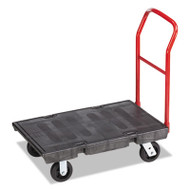 "Rubbermaid Commercial Heavy-Duty Platform Truck Cart, 500 lb Capacity, 24"" x 36"" Platform, Black (RCP 4403 BLA)"