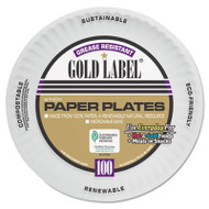 AJM Packaging Corporation Coated Paper Plates, 6 Inches, White, Round, 100/Pack (AJM CP6OAWH)