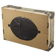 FlexSol Linear Low-Density Ecosac, 38 x 60, 55-Gallon, 1.54 Mil, Black, 100/Case (ESS ECO60XH)
