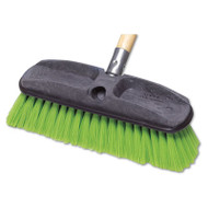 "Rubbermaid Commercial Synthetic-Fill Wash Brush, 10"" Yellow Plastic Block (RCP 9B72 GRE)"
