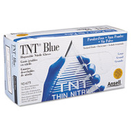 AnsellPro TNT Disposable Nitrile Gloves, Non-powdered, Blue, Large, 100/Box (ANS 92-675-L)