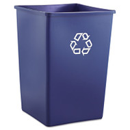 Rubbermaid Commercial Recycling Container, Square, Plastic, 35gal, Blue (RCP 3958-73 BLU)