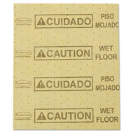 "Rubbermaid Commercial Over-the-Spill Pad, ""Caution Wet Floor"", Yellow, 16 1/2"" x 20"", 25 Sheets/Pad (RCP 4252 YEL)"