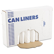 Boardwalk EH-Grade Can Liners, 24 x 32, 12-16gal, .4mil, White, 25 Bags/Roll, 20 Rolls/CT (BWK 2432EXH)