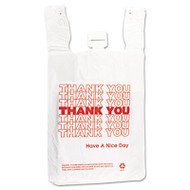 Inteplast Group T-Shirt Thank You Bag, 12 x 7 x 13, 14 Microns, White, 500/Carton (IBS THW2VAL)