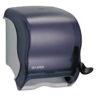 San Jamar Element Lever Roll Towel Dispenser, Classic, Black, 12 1/2 x 8 1/2 x 12 3/4 (SAN T950TBK)