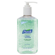 PURELL Advanced Instant Hand Sanitizer w/Aloe, 12oz Pump Bottle, 12/Carton (GOJ 3639-12)