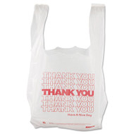 Barnes Paper Company Thank You High-Density Shopping Bags, 8w x 4d x 16h, White (BPC 8416THYOU)