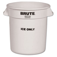 Rubbermaid Commercial Brute Ice-Only Container, 10gal, White (RCP 9F86 WHI)