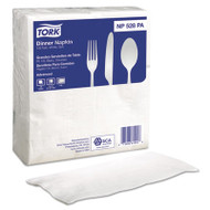 Tork Advanced Soft Dinner Napkins, 2-Ply, 15x17, 1/8 Fold, Poly-Pack, White, 2000/Ct (SCA NP528PA)