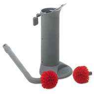 Unger Ergo Toilet Bowl Brush System: Wand, Brush Holder & 2 Heads (UNG BBWHR)