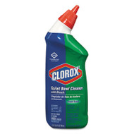 Clorox Toilet Bowl Cleaner with Bleach, Fresh, 24oz Bottle, 12/Carton (CLO00031CT)