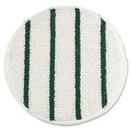"Rubbermaid Commercial Low Profile Scrub-Strip Carpet Bonnet, 19"" dia. Pads, White/Green, 5/Carton (RCP P269)"