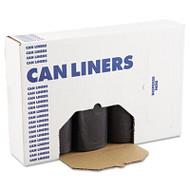 Boardwalk SH-Grade Can Liners, 40 x 46, 40-45gal, 1.2mil, Black, 10 Bags/Roll, 10 Rolls/CT (BWK 517)