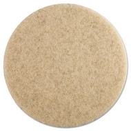 Boardwalk Ultra High-Speed Floor Pads, 19-Inch Dia., Natural Hair, Champagne, 5/Carton (PAD 4019 NHE)