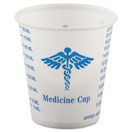 SOLO Cup Company Paper Medical & Dental Graduated Cups, 3oz, White/Blue, 100/Bag, 50 Bags/Carton (SCC R3)