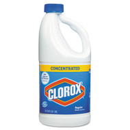 Clorox Concentrated Regular Bleach, 64oz Bottle, 8/Carton (CLO 30769)