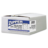 Handi-Bag Recloseable Zipper Seal Sandwich Bags, 1.15mil, 6.5 x 5.875, Clear, 500/Box (WEB ZIPSAND)