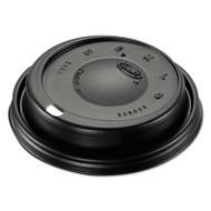 Dart Cappuccino Dome Sipper Lids, Black, Plastic, 100/Pack, 10 Packs/Carton (DCC 16ELBLK)