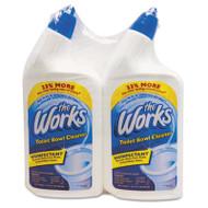 The Works Disinfectant Toilet Bowl Cleaner, 32 oz Spray Bottle, 2/PK,6 PK/CT (KIK 33302WKCT)