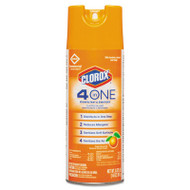 Clorox 4-in-One Disinfectant & Sanitizer, Citrus, 14oz Aerosol, 12/Carton (CLO31043CT)