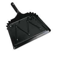 "Boardwalk Metal Dust Pan, 12"" Wide, 2"" Handle, Black, 12/Carton (BWK04212)"