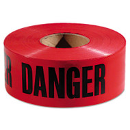 "Empire Danger Barricade Tape, ""Danger"" Text, 3"" x 1000ft, Red/Black (EML771004)"