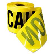 "Empire Caution Barricade Tape, ""Caution Cuidado"" Text, 3""x200ft, Yellow w/Black Print (EML770201)"