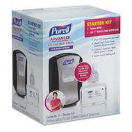 PURELL LTX-7 Advanced Instant Hand Sanitizer Kit, 700mL, Touch-Free, Chrome/Black (GOJ1305D4)