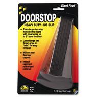 Master Caster Giant Foot Doorstop, No-Slip Rubber Wedge, 3-1/2w x 6-3/4d x 2h, Brown (MAS00964)
