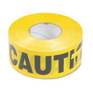 Tatco Caution Barricade Safety Tape, Yellow, 3w x 1000ft Roll (TCO10700)