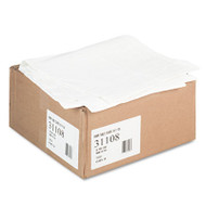 "Tatco Paper Table Cover, Embossed, w/Plastic Liner, 54"" x 108"", White, 20/Carton (TCO31108)"