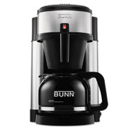 BUNN 10-Cup Velocity Brew NHS Coffee Brewer, Black, Stainless Steel (BUNNHS)