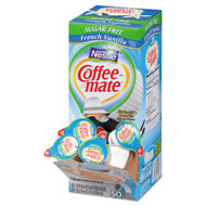 Coffee-mate Sugar-Free French Vanilla Creamer, 0.375oz, 50/Box (NES91757)