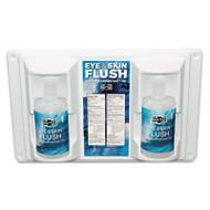 """Pac-Kit Twin Bottle Eye Flush Station w/Two 16oz Bottles, 3.75""""D x 13.5""""H x 16.5""""W (PKT24102)"""