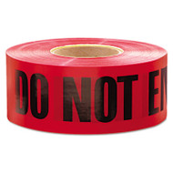 "Empire ""Do Not Enter"" Barricade Tape, 3"" x 1000 ft, ""Do Not Enter"" Text, Red/Black (EML11081)"